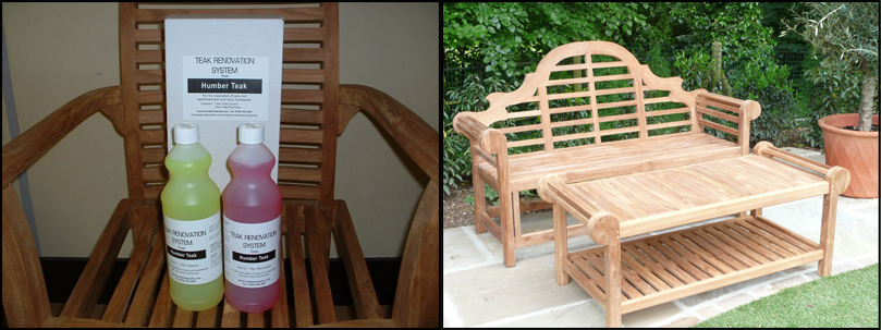 The Teak Renovation System Left Can Help To Re Garden Furniture Back Its Original State
