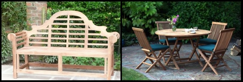 The Best Quality Garden Furniture Is Made From Grade A Teak Above Lutyens 3 Seater Bench Left And Biarritz Table Chairs Set