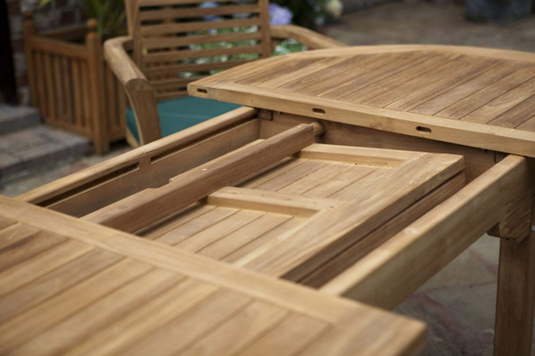 Garden Furniture 8 monte carlo oval teak garden furniture set | humber imports
