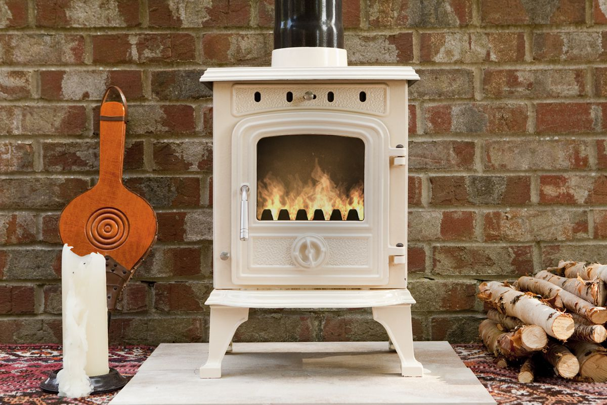 Multi fuel or wood burning stove - Padstow 4 5 Kw Enamelled Wood Multifuel Stove