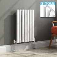Modern Designer Oval Column Radiator 600 x 417 Single Column