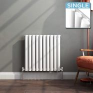 Modern Designer Oval Column Radiator 600 x 588 Single Column