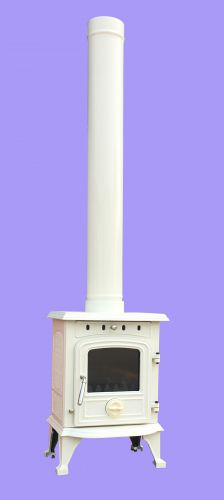 Cream Enamel Flue Pipe