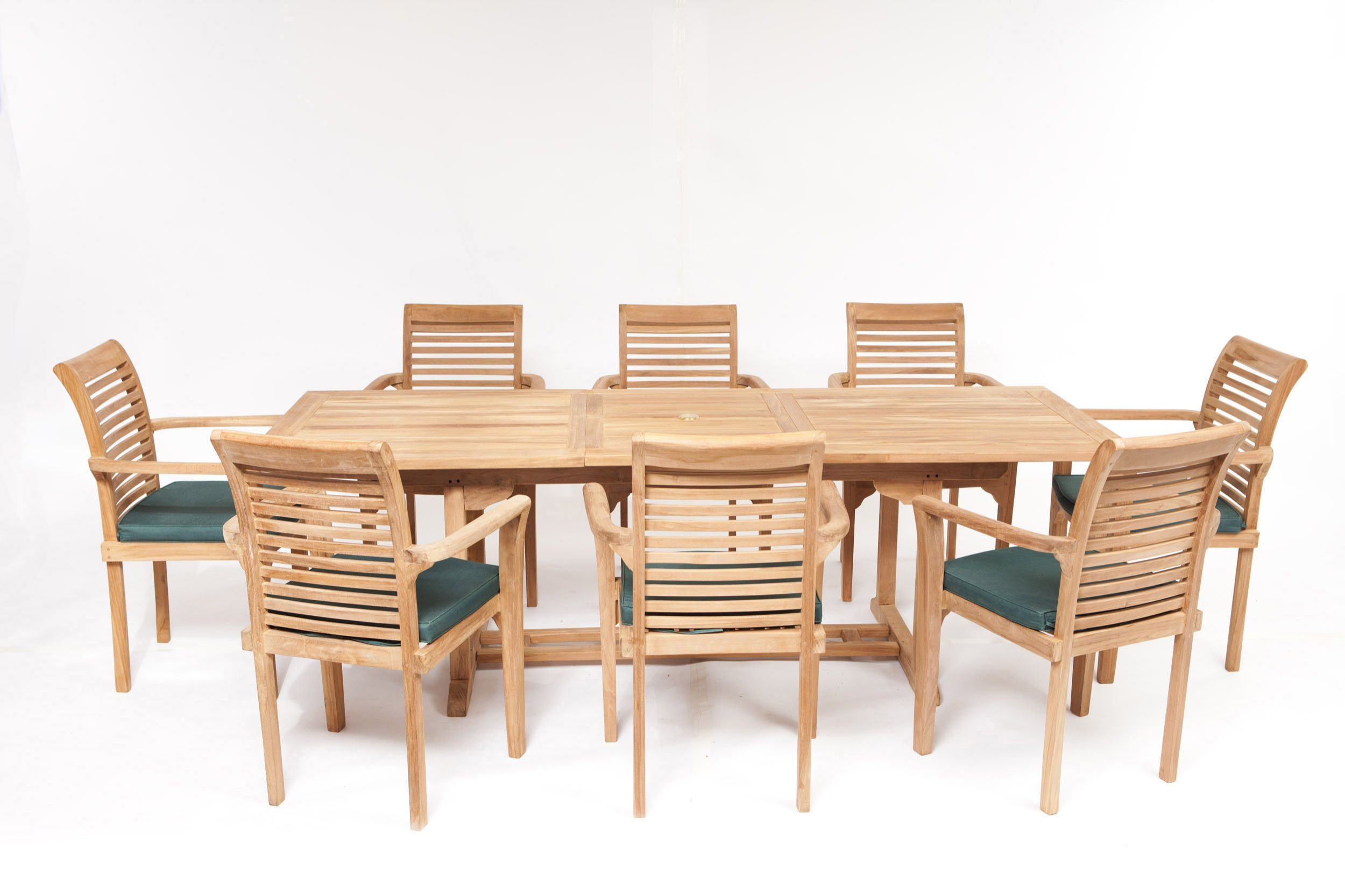geneva 8 seater teak garden furniture set - Garden Furniture 8 Seater