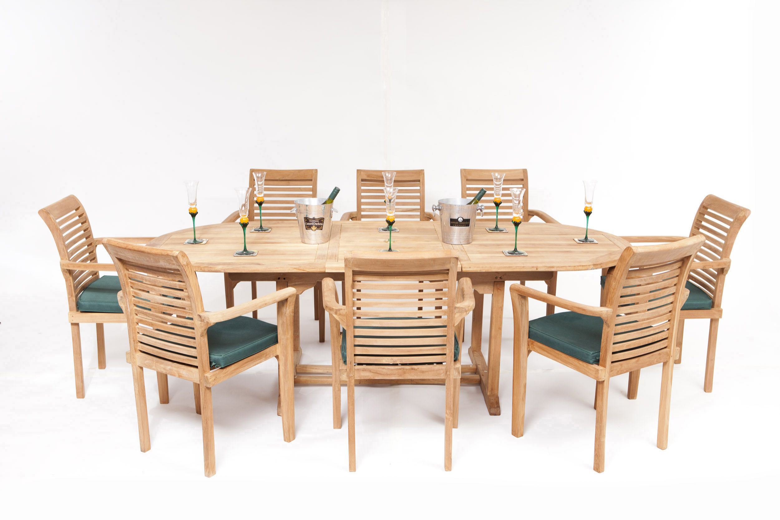monte carlo 8 seater teak garden furniture set - Garden Furniture Offers