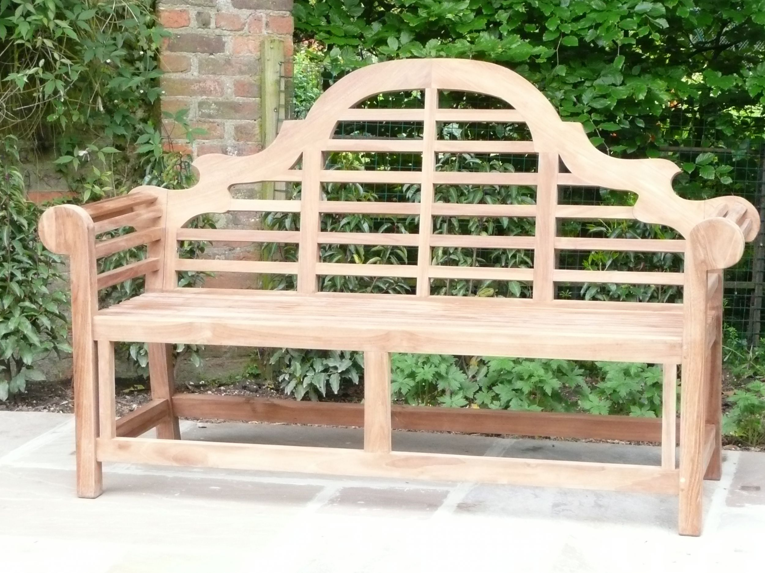 teak benches westminster garden consists bench tree trunk surrounds our of sectional individual