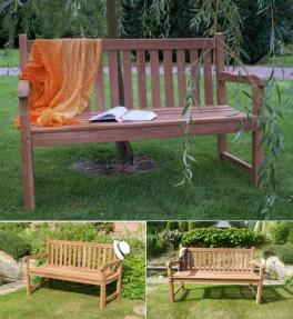 London 2 to 3 Seater Teak Garden Bench