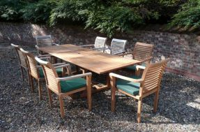 Geneva Rectangular Teak Garden Furniture Set