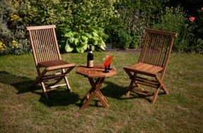 Versailles Bistro Teak Garden Table & Chairs Set