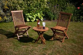 Montpellier Bistro Teak Garden Table & Chairs Set