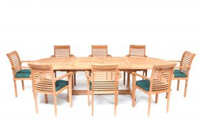 Deauville 8 Seater Teak Garden Furniture Set