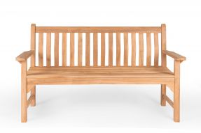 Wave Back Bench 1.5 Metres