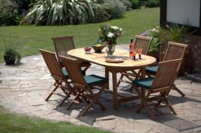 La Baule Teak Garden Table & Chairs Set
