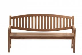 Windsor Curved Back Teak Garden Bench