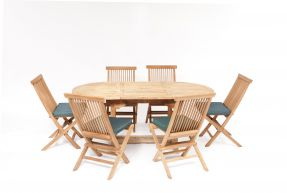 Nice 6 Seater Teak Garden Furniture  Set