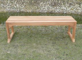 1.4 Metre Teak Waiting Bench