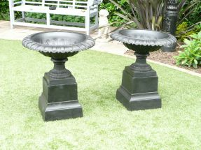 "A Pair of Wordsworth Victorian ""Tazza"" Style Urns"