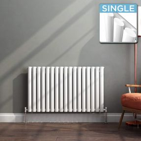 Modern Designer Oval Column Radiator 600 x 994 Single Column
