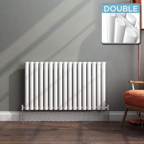 Modern Designer Oval Column Radiator 600 x 994 Double Column