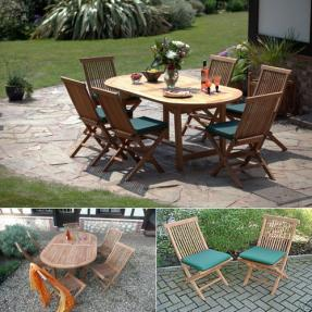 La Baule Oval Teak Garden Furniture Set