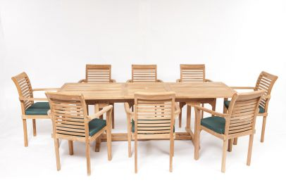Geneva 8 Seater Teak Garden Furniture Set