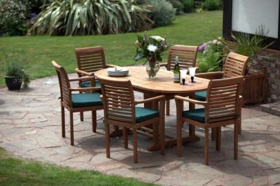 Paris Teak Garden Table & Chairs Set