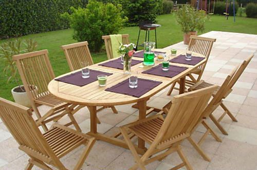 Garden Furniture 8 Seater Patio Set honfleur teak garden furniture set | humber imports