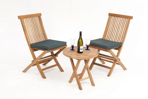 Montpellier 2 Seater Teak Bistro Garden Furniture Set