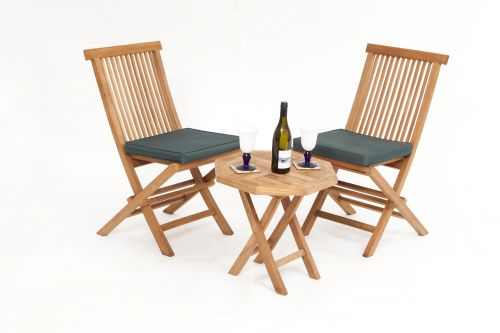 Versailles 2 Seater Teak Bistro Garden Furniture Set