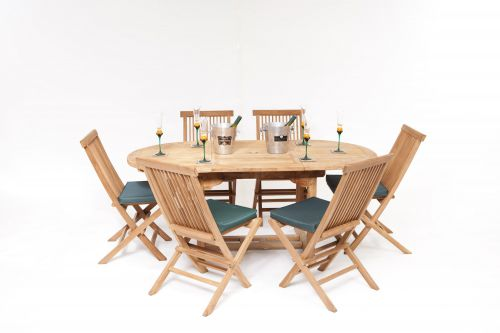 La Baule 6 Seater Teak Garden Furniture Set