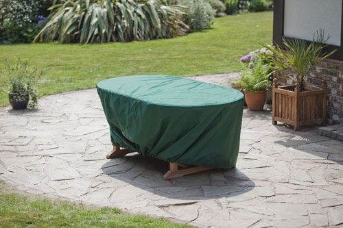 Covers for monte carlo hornfleur table humber imports for Garden furniture covers oval