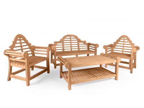 Lutyens Bench, Coffee Table & Two Lutyens Chair Collection