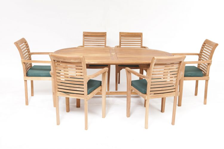 Syracruse 6 Seater Teak Garden Furniture Set