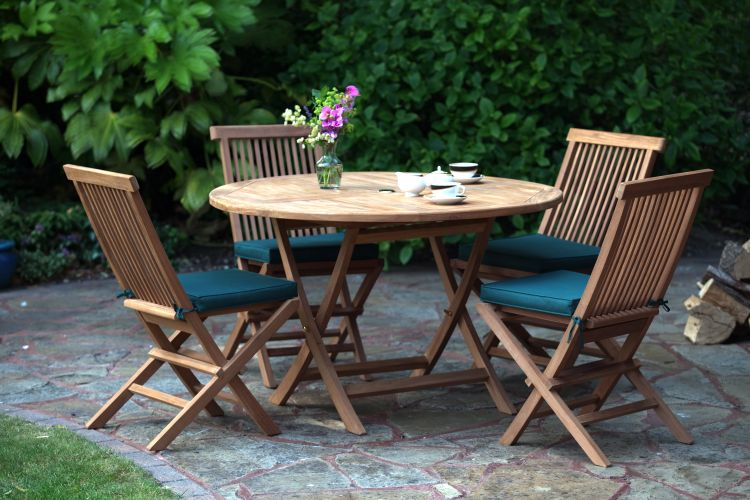 Biarritz 4 Seater Teak Garden Furniture Set