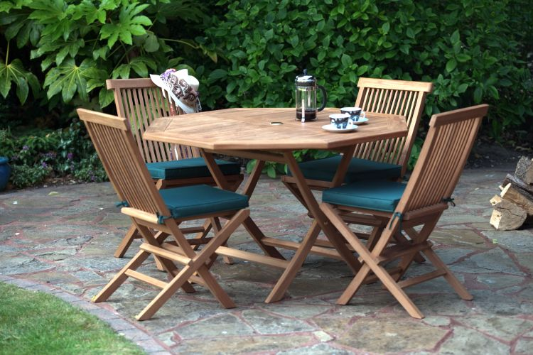 St Raphael Teak Garden Furniture Dining Set Humber Imports - Teak table and 4 chairs