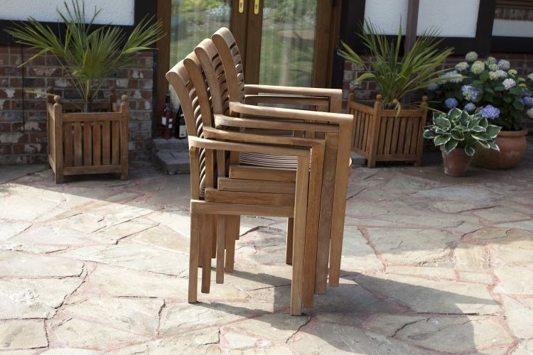 paris 6 seater teak garden furniture set
