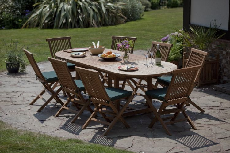 Folding Garden Furniture Honfleur teak garden furniture set humber imports honfleur 8 seater outdoor furniture set workwithnaturefo