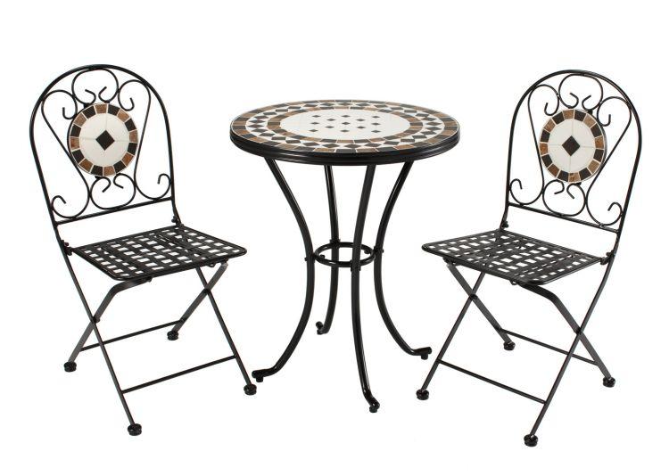 rimini mosaic steel garden furniture set humber imports