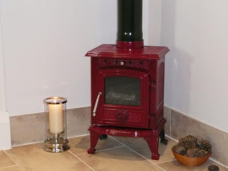 Rhone 4 5 Kw Enamelled Wood Multifuel Stove