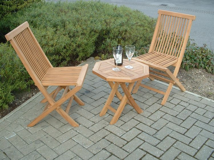 Versailles 2 Seater Teak Bistro Garden Furniture Set : bistro garden table set - Pezcame.Com