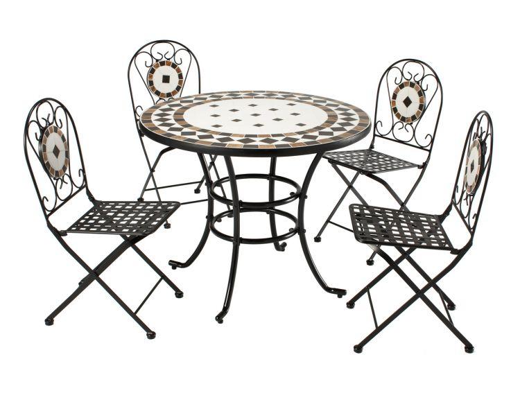 Garden Furniture Mosaic roma mosaic steel garden furniture set | humber imports